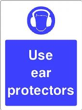 """Use Ear Protectors"" WARNING STICKER DECAL SIGN A5 (145mm x 195mm) Workshop"